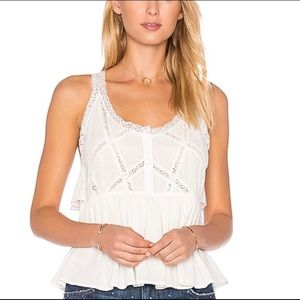 **Gorgeous** Current/Elliot lace trim tank top